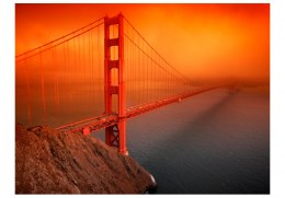Fototapeta - Most Golden Gate we mgle