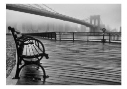 Fototapeta - Brooklyn Bridge, Szary