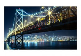 Fototapeta 450 x 270 cm - Bay Bridge nocą